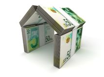 Real Estate Concept Israeli New Shekel. On white Stock Image