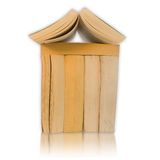 Real estate concept made from books Royalty Free Stock Photography
