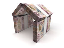 Real Estate Concept Mexican Pesos Stock Photo