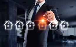 Real estate concept . Mixed media royalty free stock photos