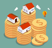 Real estate. Concept vector illustration. Price variation on  market Royalty Free Stock Photography