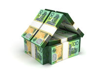 Real Estate-Concepten Australische Dollar Stock Afbeelding