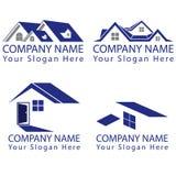 Real Estate-Conceptenembleem Royalty-vrije Stock Afbeeldingen