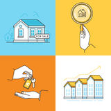 Real estate concepts - houses for sale Royalty Free Stock Images