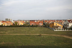 Real Estate Construction. Single family housing development in a residential area Royalty Free Stock Photography