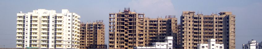Real Estate Construction Banner-India. Real Estate Construction in Bastar area of chhattisgarh state stock photography