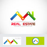Real estate construction business logo Royalty Free Stock Images