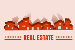 Real estate - construction company. Real estate, construction card company - Logo royalty free illustration