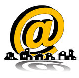 Real estate - construction e-mail company Royalty Free Stock Image