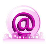 Real estate - construction e-mail company Royalty Free Stock Photography