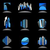 Real estate and construction icons / logos - 6 stock illustration