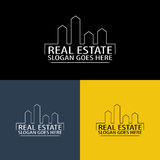 Real Estate And Construction Logo Royalty Free Stock Image