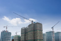 Real estate construction site Stock Image