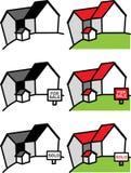 Real Estate contiene a Logo Set Fotos de archivo libres de regalías