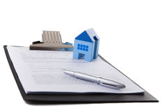 Real estate contract. Document and a pen stock photo