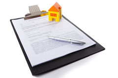 Real estate contract. Isolate on white stock photo