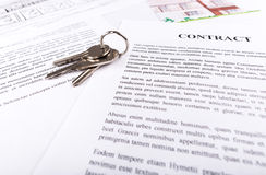 Real estate contract Stock Images