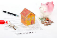 Real estate contract. Ready for signing Stock Images