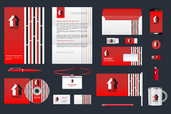 Real estate corporate identity branding template. Business documentation Royalty Free Stock Photo