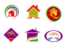 Real estate corporate logo company sign set template Stock Image