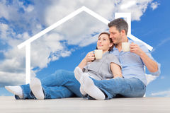 Real estate couple Stock Photo