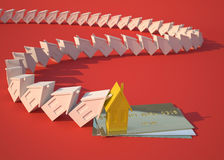Real estate and credit card. Conceptual economic illustration Stock Photography