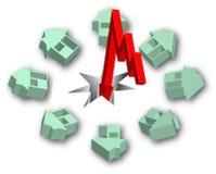 Real estate crisis. Crisis pulls down the real estate market Stock Image