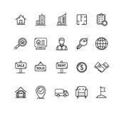 Real Estate décrivent l'ensemble d'icône Vecteur Photographie stock