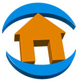 Real estate 3d logo Stock Photography