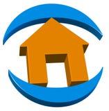Real estate 3d logo. Rendering illustration of real estate home logo Stock Photography