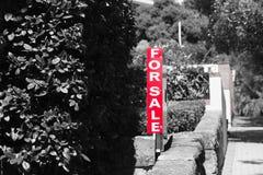 Real Estate da vendere firma la proprietà residenziale Fotografie Stock