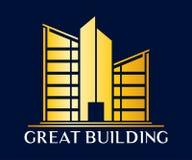 Real Estate, de Bouw, Bouw en Architectuur Vectordesi stock illustratie