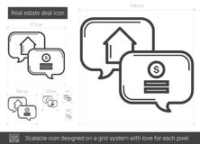 Real estate deal line icon. Royalty Free Stock Images