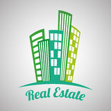 Real estate design, building and city concept, editable vector Royalty Free Stock Image