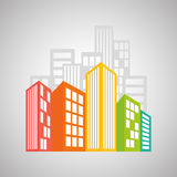 Real estate design, building and city concept, editable vector Royalty Free Stock Images