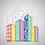 Real estate design, building and city concept, editable vector Stock Images