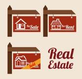 Real estate design. Over background, vector illustration Stock Image