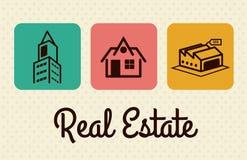Real estate design. Over beige background, vector illustration Royalty Free Stock Photo