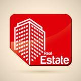 Real estate design. Over beige background, vector illustration Royalty Free Stock Image