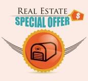 Real estate design. Over beige background, vector illustration Royalty Free Stock Photography