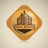 Real estate design. Over beige  background, vector illustration Stock Photography