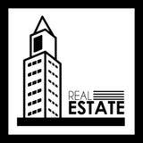 Real estate design. Over black background, vector illustration Stock Photo