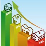 Real estate design. Over  blue background, vector illustration Stock Photo