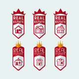 Real estate design. Over blue background, vector illustration Royalty Free Stock Photo