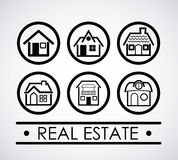 Real estate design. Over gray background, vector illustration Royalty Free Stock Images