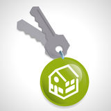 Real estate design. Over gray background, vector illustration Stock Images