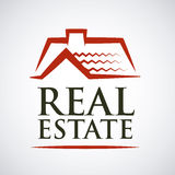 Real estate design. Over gray background, vector illustration Royalty Free Stock Photos
