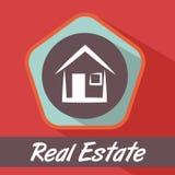 Real estate design. Over red background, vector illustration Stock Photo