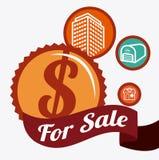 Real estate design. Over white background, vector illustration Royalty Free Stock Images