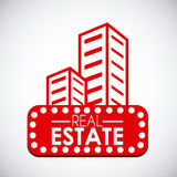 Real estate design. Over white background, vector illustration Stock Photography